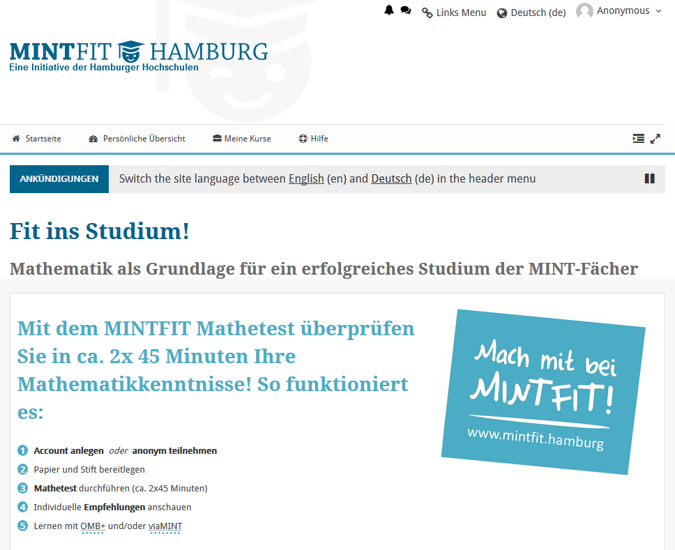 Screenshot der Seite https://www.mintfit.hamburg/